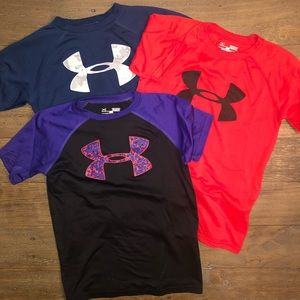 Under Armour Boys Athletic Shirts Size Small